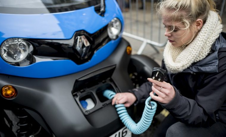 Vehículo eléctrico carro transporte eléctrico