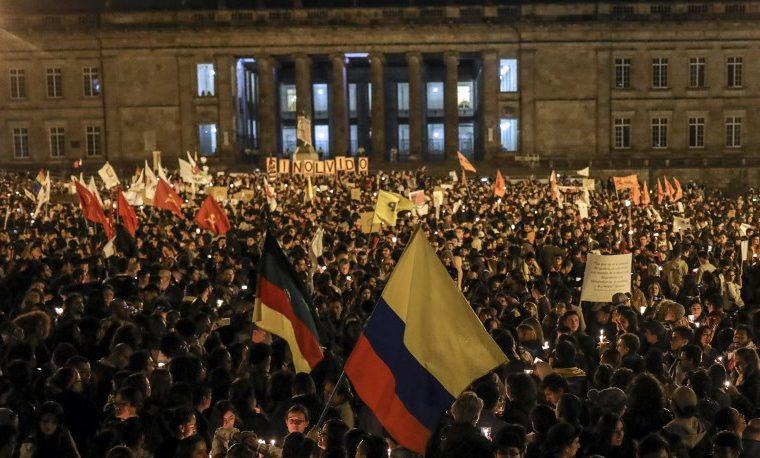 Protestas en Colombia por homicidios de activistas