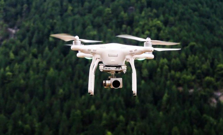 glifosato fumigación drone
