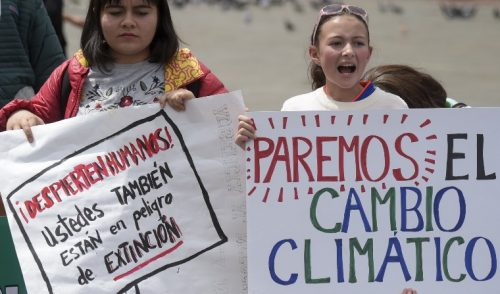Estudiantes de todo el mundo salen a la calle contra el cambio climático